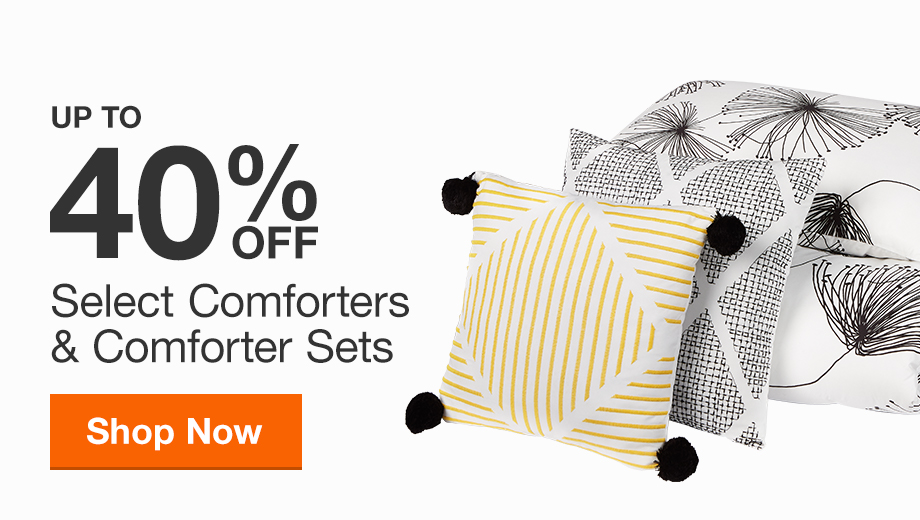 Up to 40% off Select Comforters & Comforter Sets