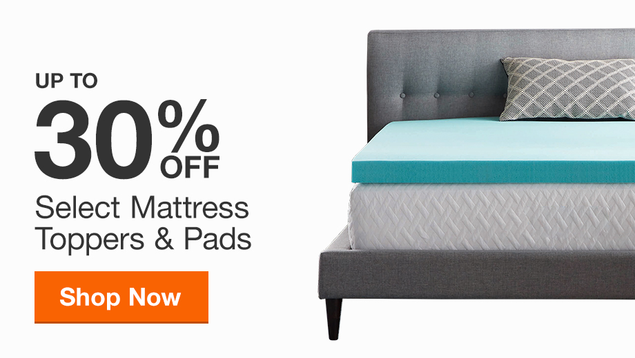 Up to 30% off Select Mattress Toppers and Pads