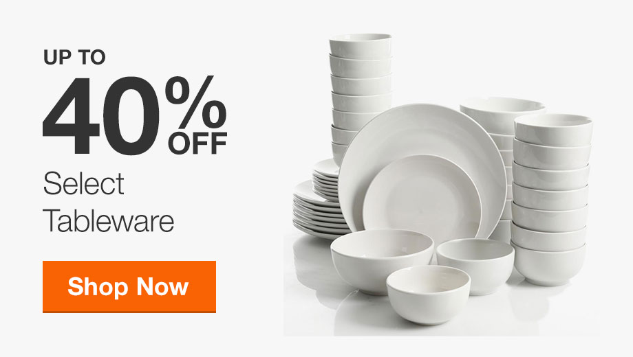 Up to 40% Off Select Tableware