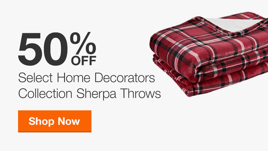 50% off Select HDC Sherpa Throws