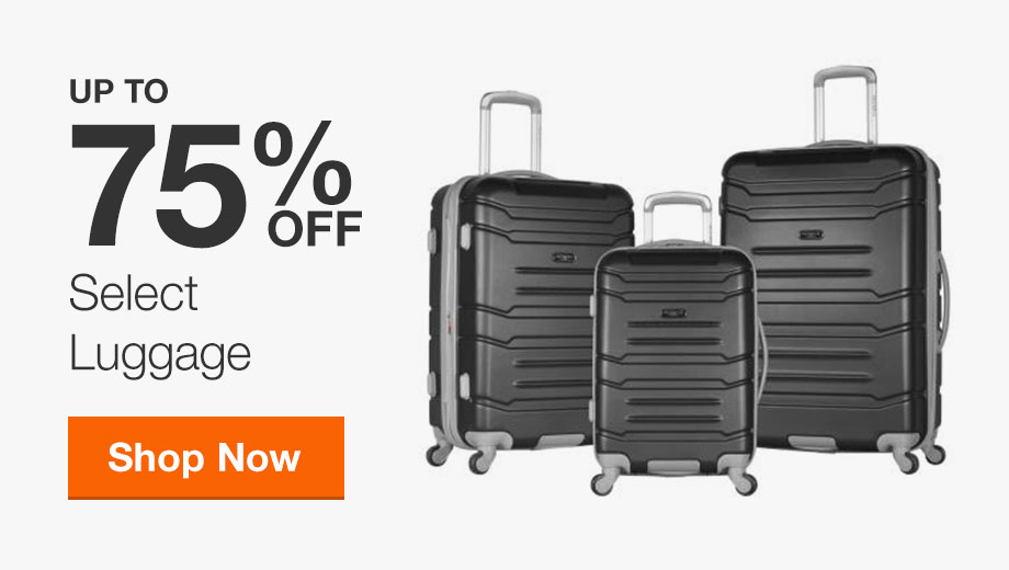 Up to 75% off Select Luggage