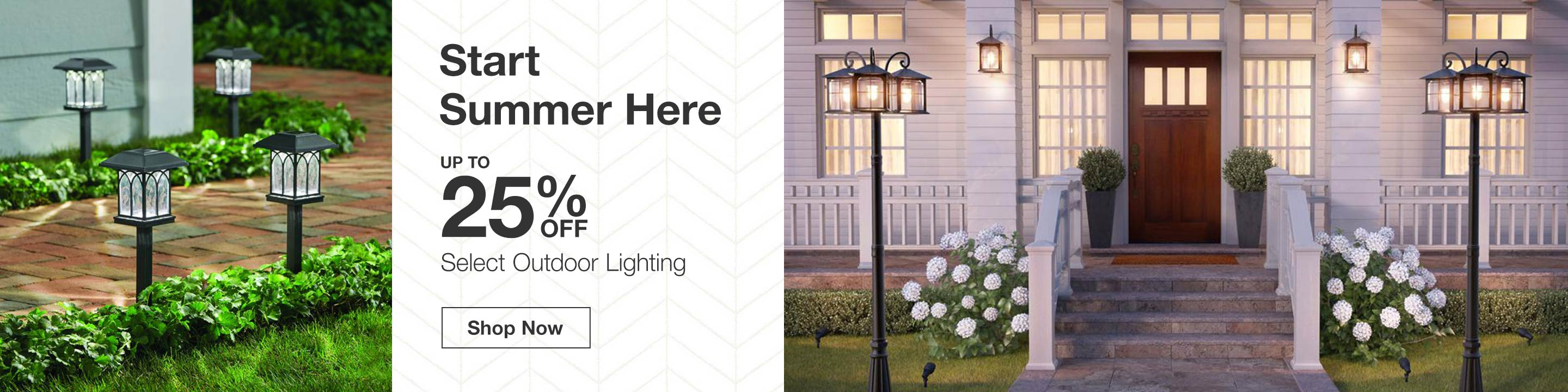 Up to 25% Off Select Outdoor Lighting