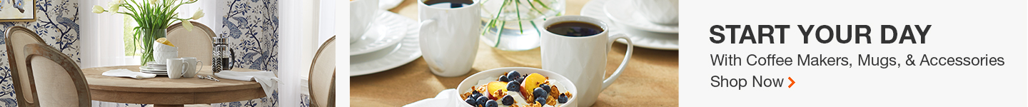 tart your day with coffee makers, mugs, and accessories