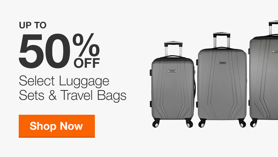 Up to 50% Off Luggage Sets and Travel Bags
