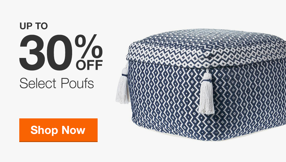Up to 30% Off Poufs