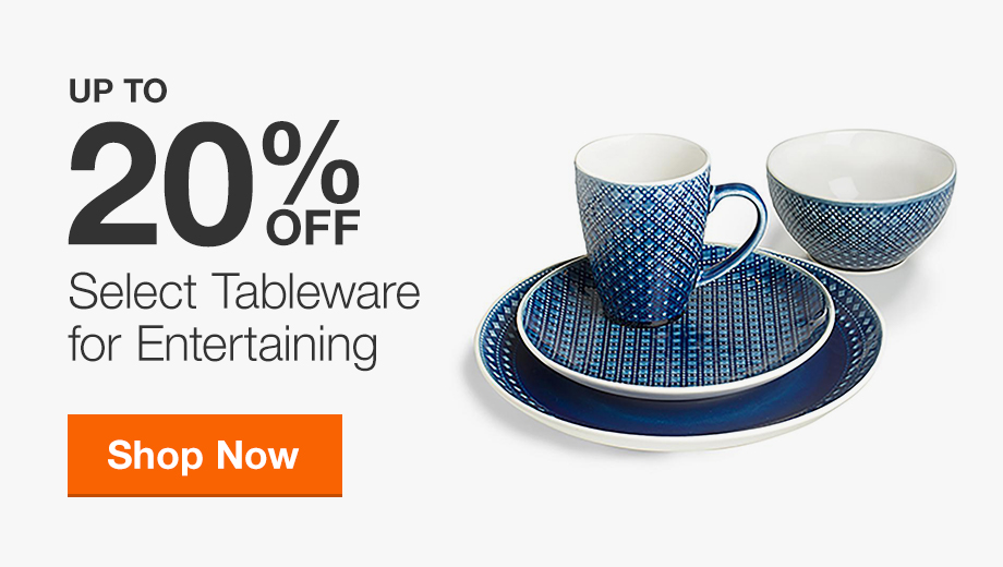 Up to 20% Off Select Tableware for Entertaining
