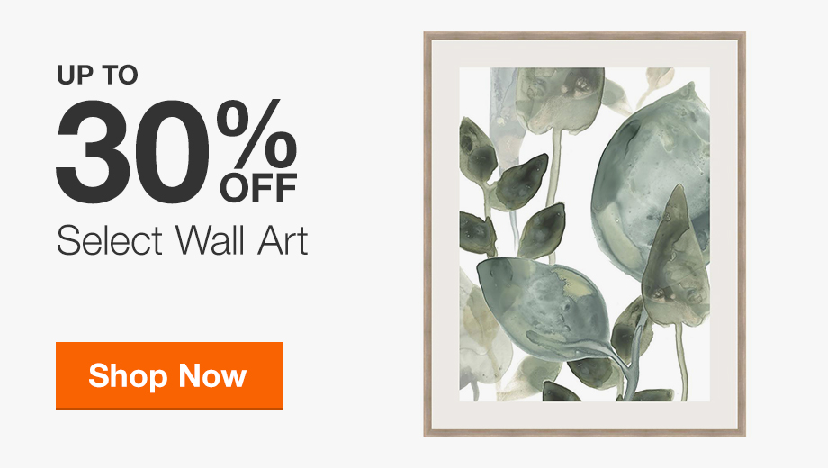 Up to 30% Off Select Wall Art