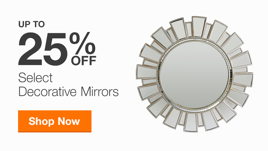 Up to 25% Off Select Decorative Mirrors