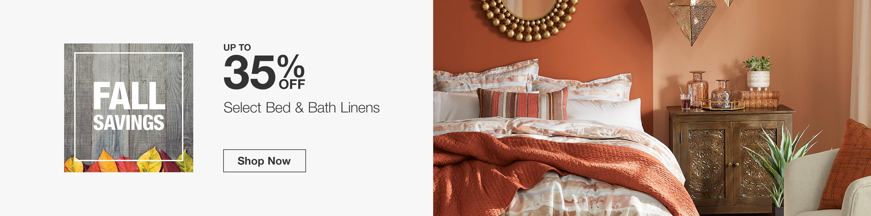 Up to 35% Off Select Bed and Bath Linens