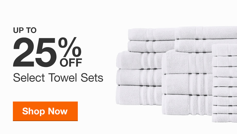 Up to 25% Select Towel Sets