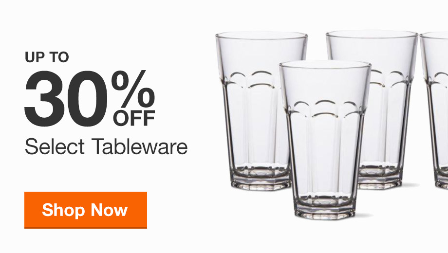 Up to 30% off Select Tableware