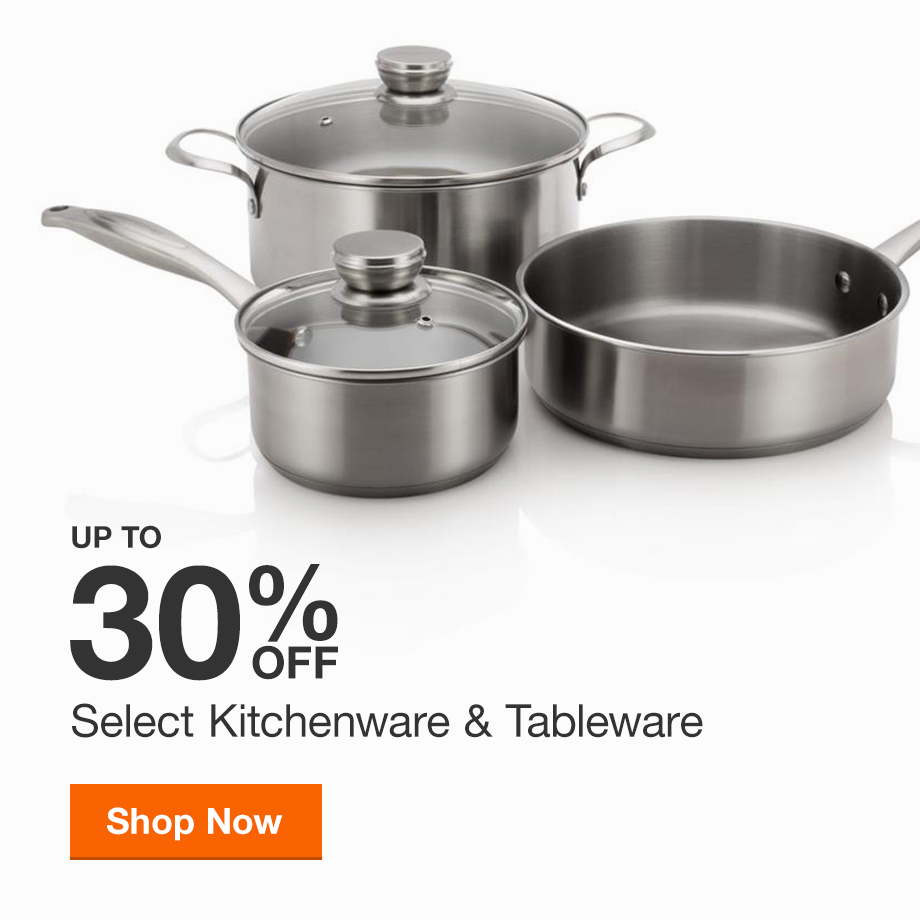 Up to 30% Off Select Kitchenware & Tableware