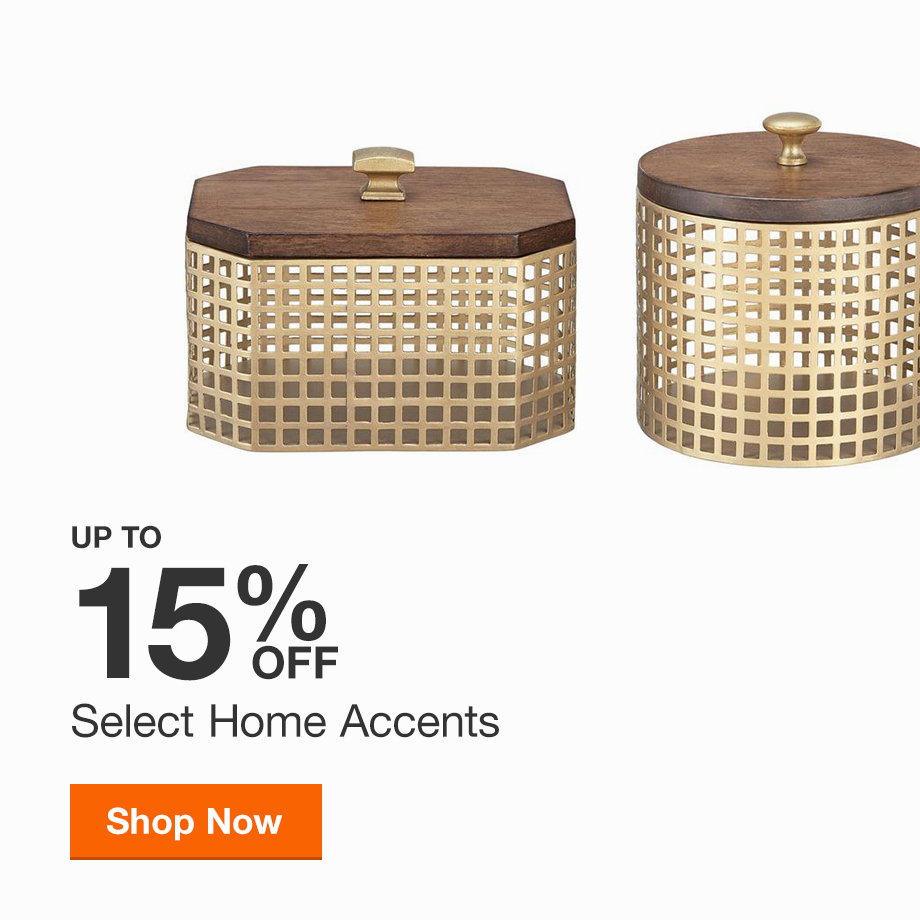 Up to 30% off Select Home Accents
