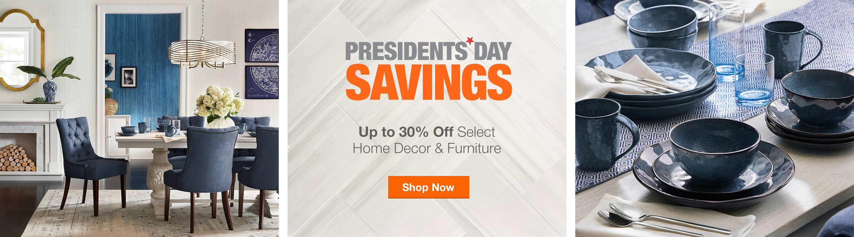 President's Day Savings - Up to 30% off Select Home Decor & Furniture