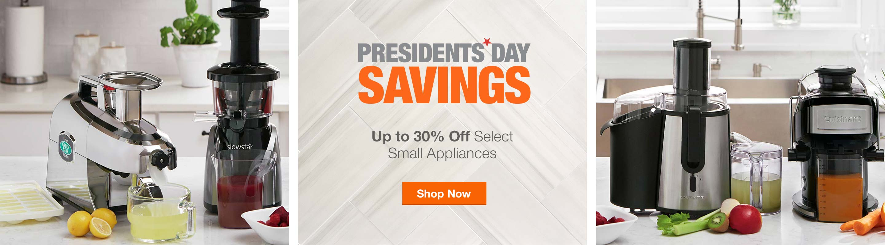 Up to 30% off Select Small Kitchen Appliances