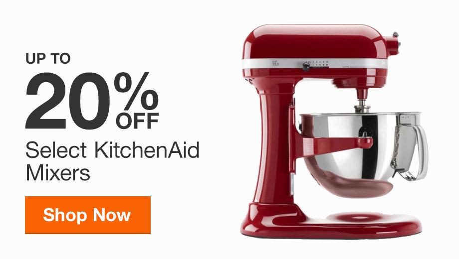 Up to 20% Off KitchenAid Mixers