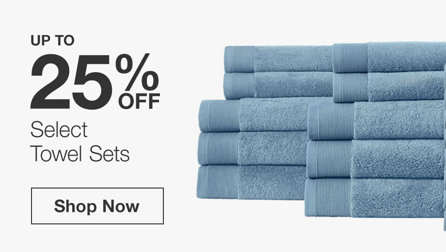 Up to 25% Off Select Bath Towel Sets
