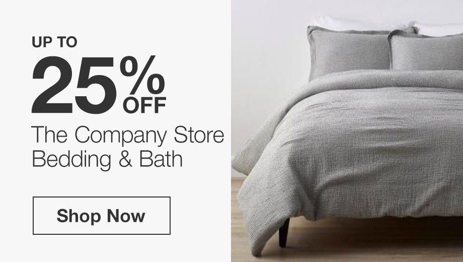 Up to 25% Off The Company Store Select Bedding & Bath