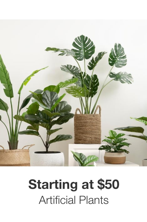 Artificial Plants Starting at $50