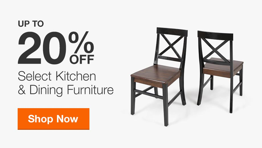 Up to 20% Off Select Kitchen & Dining Furniture