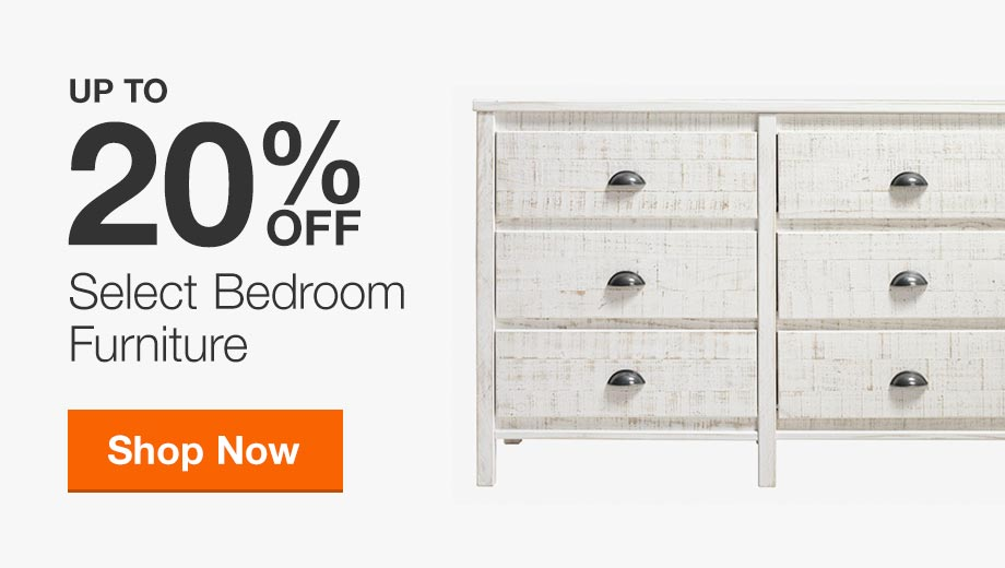 Up to 20% Off Select Bedroom Furniture