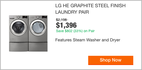 LG HE Graphite Steel Finish Laundry Pair