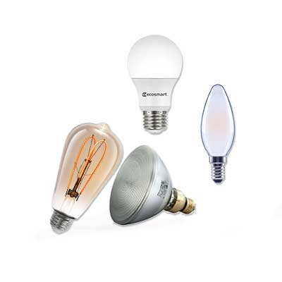 LED, CLF and Fluorescent light bulbs