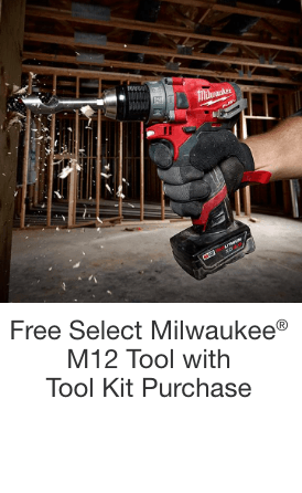 Free Select Milwaukee® M12 Tool with Tool Kit Purchase