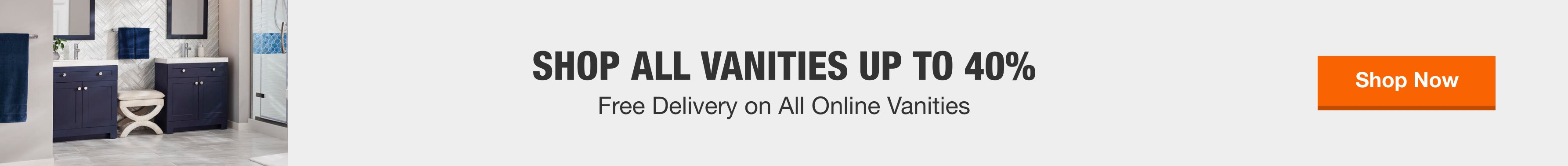 Free delivery on all online vanities
