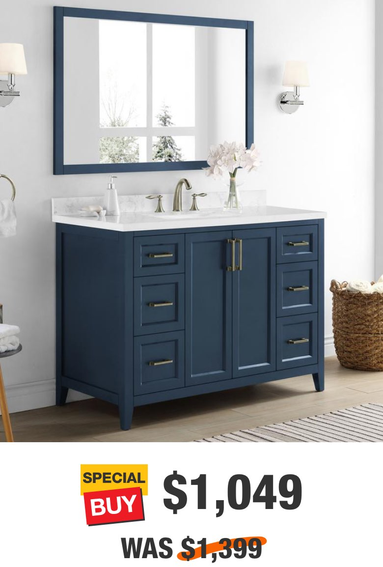 Madsen 58 in. Grayish Blue Vanity with Cultured Marble Top