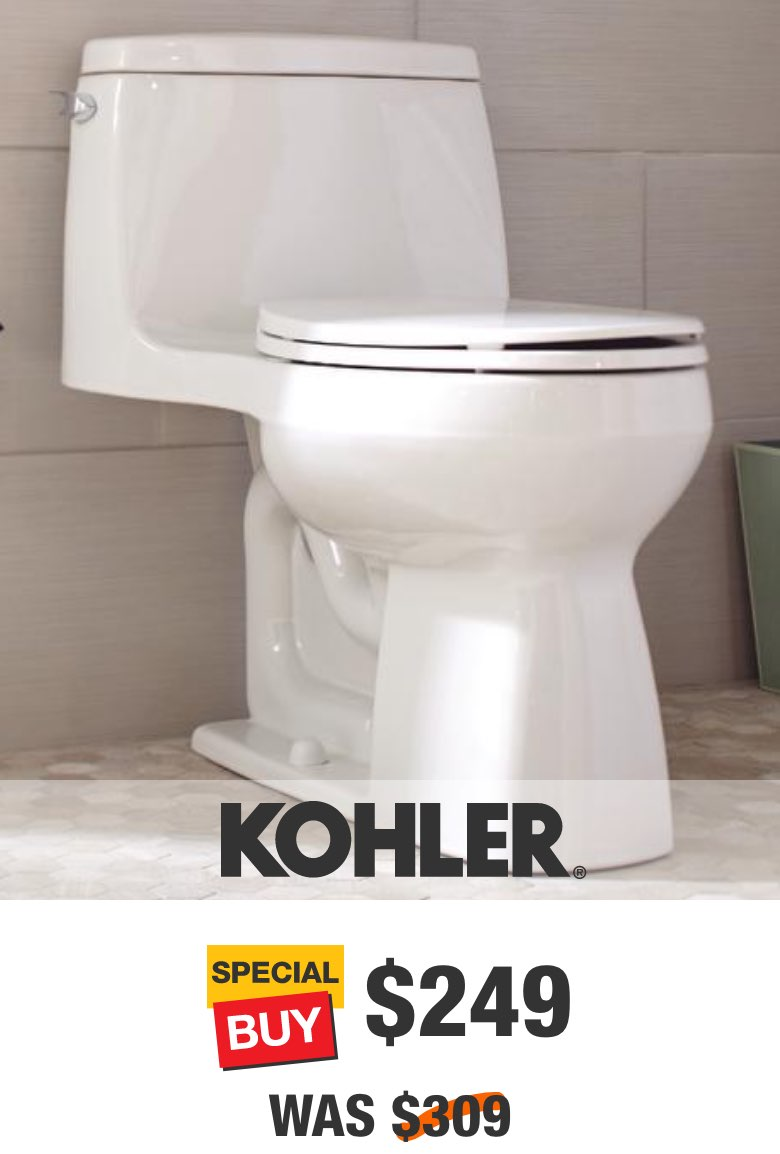 Santa Rosa 1-Piece Single Flush Compact Elongated Toilet in White