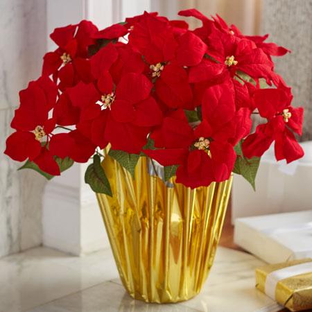 Artificial Poinsettias