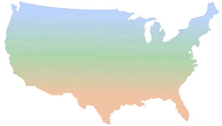 Sun, Shade & region map