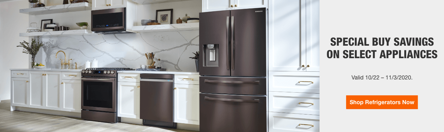 Special Buy Savings on Select Appliances.  Valid 10/22 – 11/3/2020.