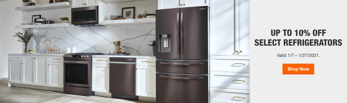 Up to 10% Off Select Refrigerators - Valid 1/7 – 1/27/2021.