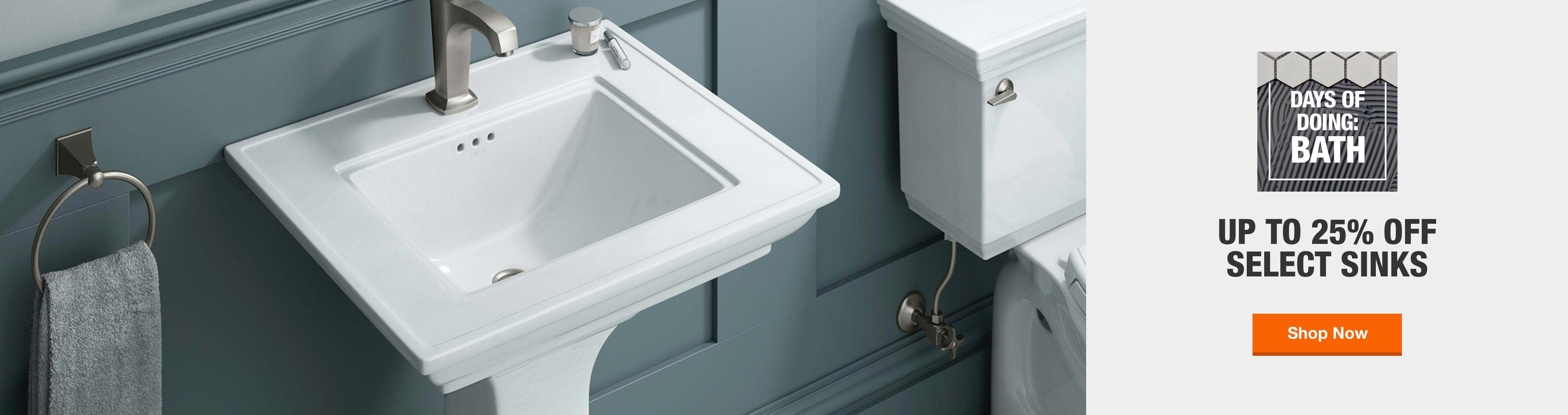 Up to 25% off select sinks