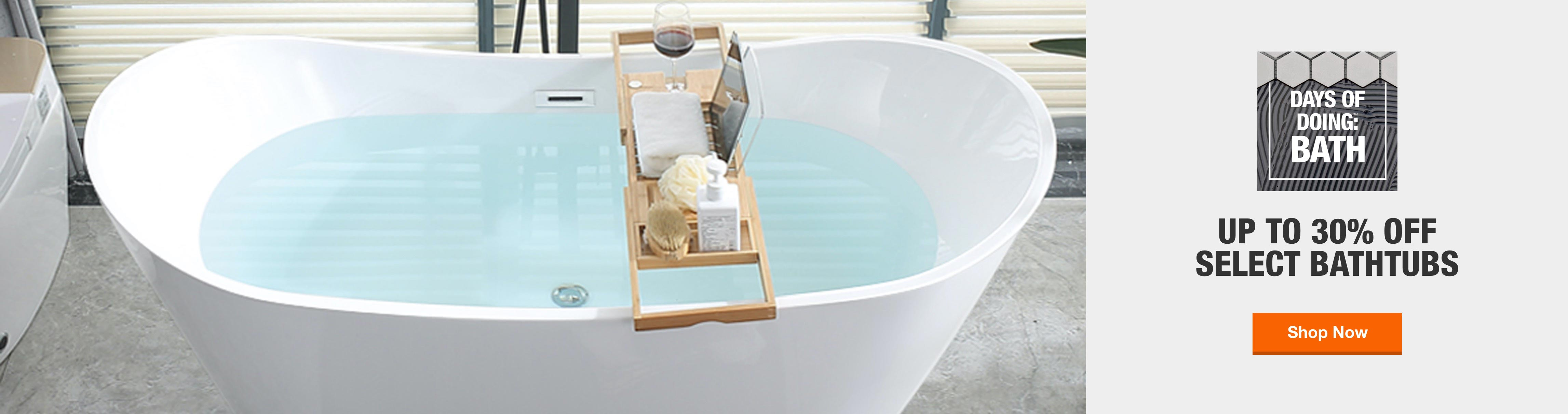Up to 30% Off Select Bathtubs. Summer Bath Event ends September 27th, 2020