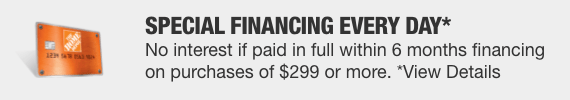 Special Financing Every Day with The Home Depot credit card