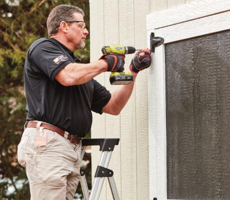 Installing shed door
