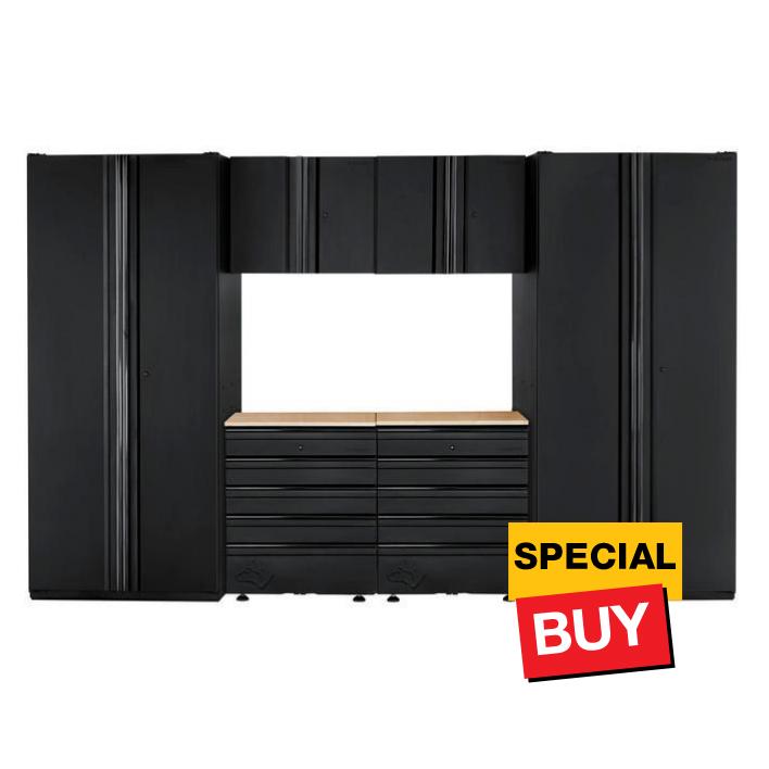 Garage Cabinet Set in Black
