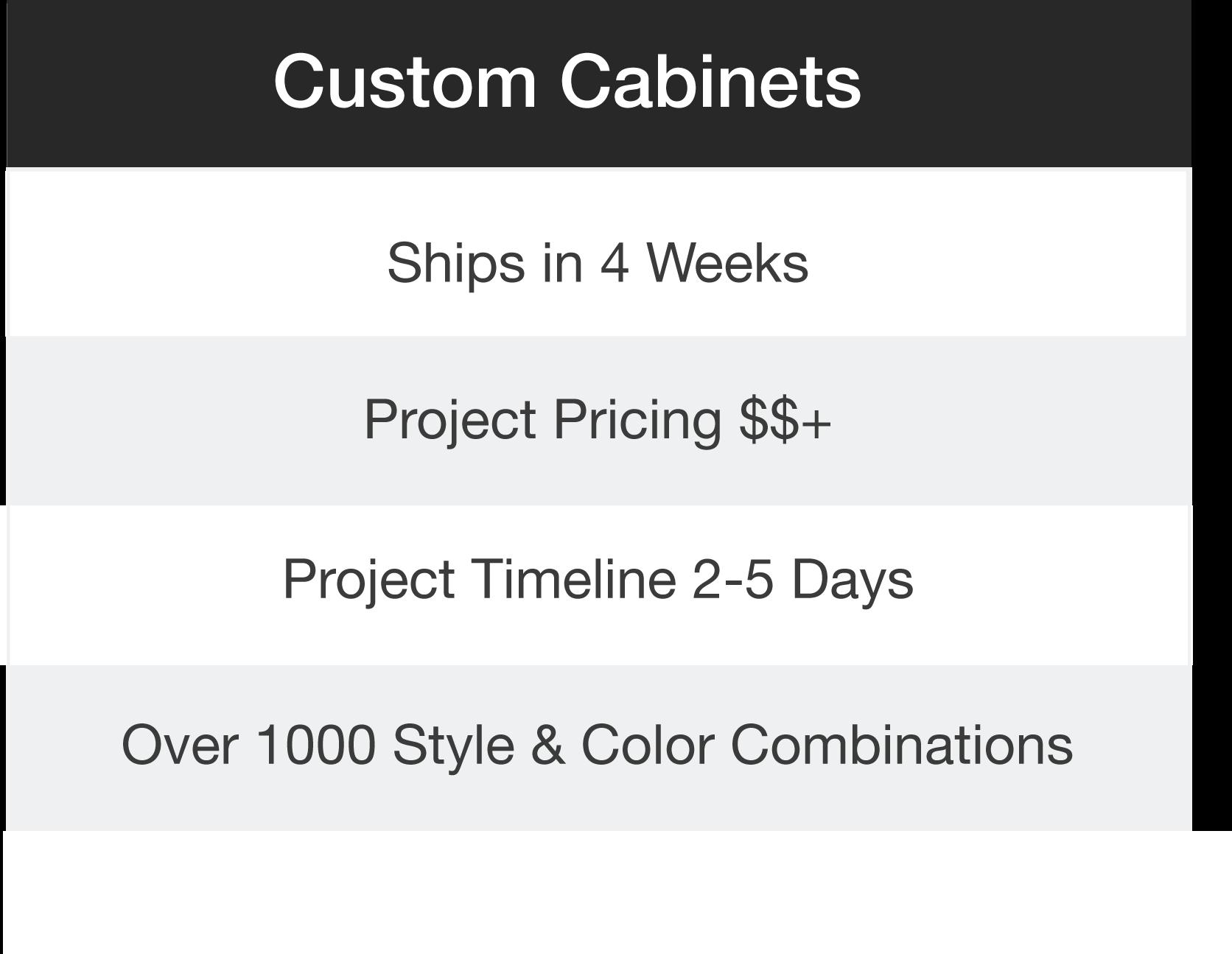 Kitchen custom cabinets options