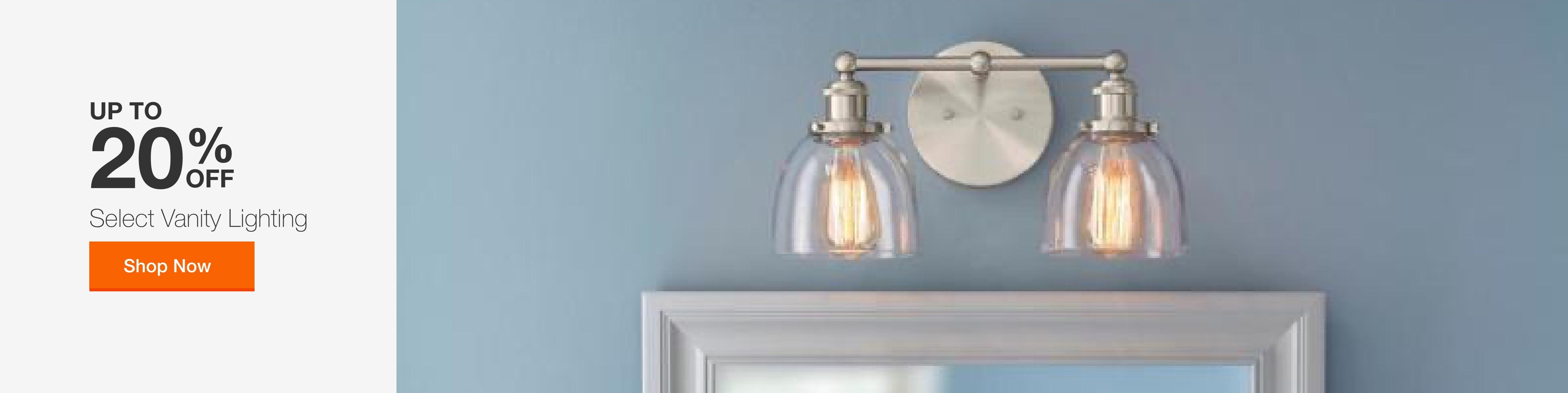 Bathroom Light Fixtures At The Home Depot