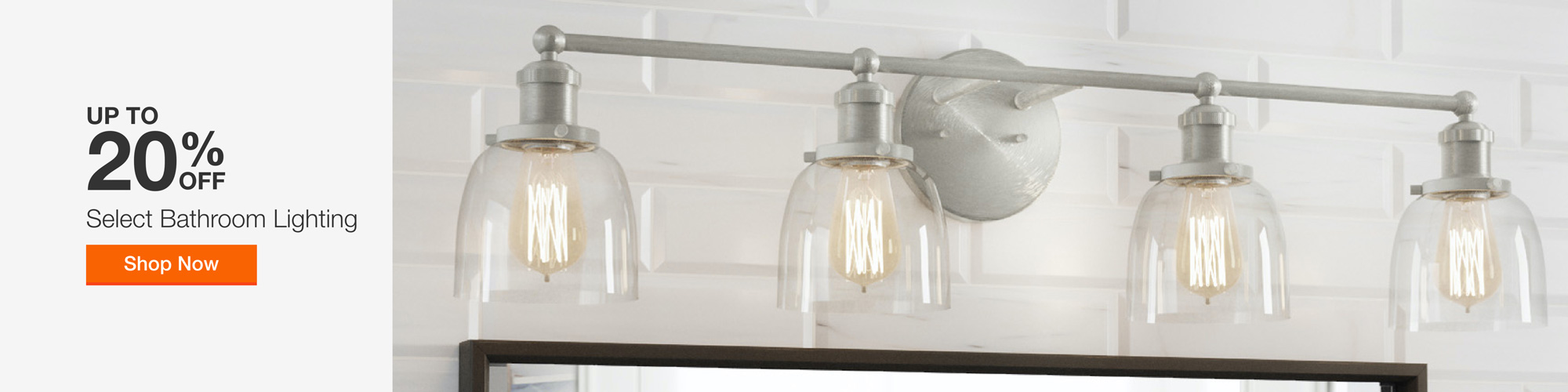 Up to 20% Off Bathroom Lighting