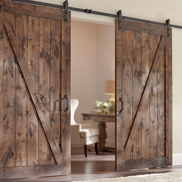 How to install barn doors