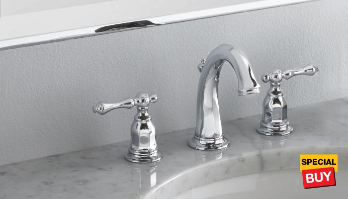 Bath savings faucets