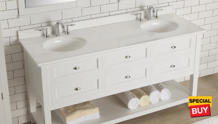 Bath savings vanities