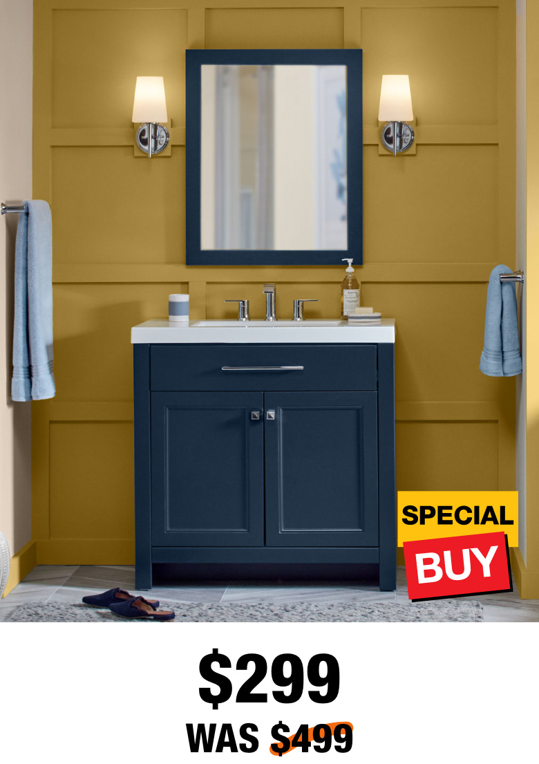 Exclusive Camdyn 36.5 in. Vanity with Top & Mirror