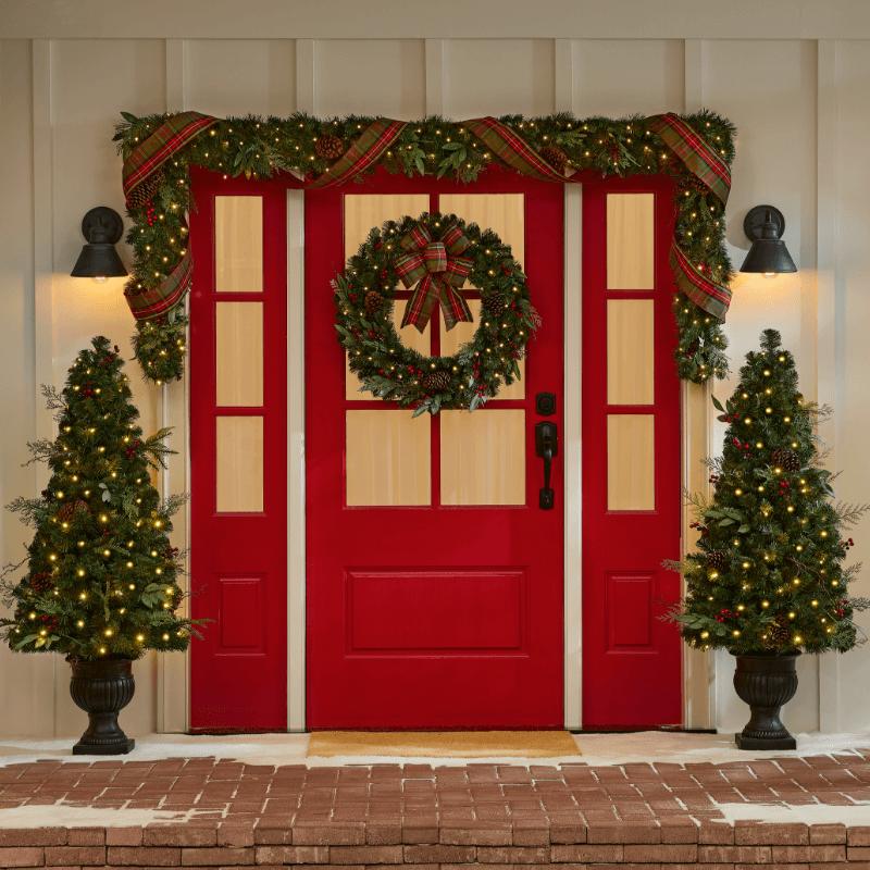 Entryway Christmas Decor