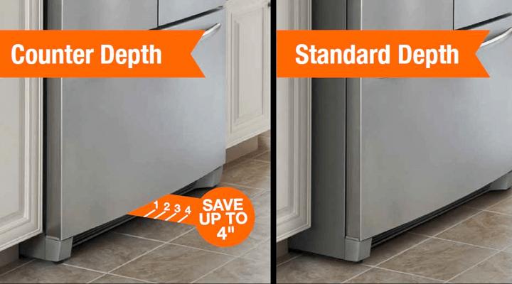 Counter depth refrigerators