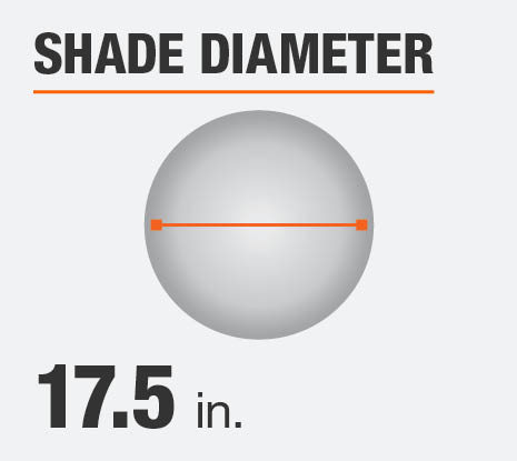 The Shade Diameter for this Product is 17.5 in.